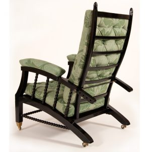 Ebonised reclining chair-54