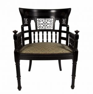A rare ebonised chair-0