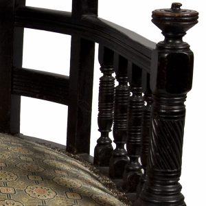 A rare ebonised chair-155