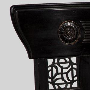 A rare ebonised chair-246