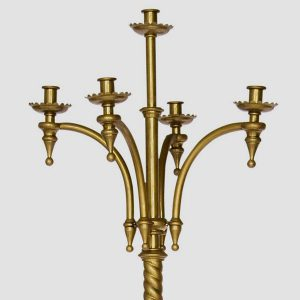 A pair of Gothic candelabra-167