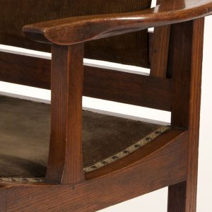 Reclining oak chair-153