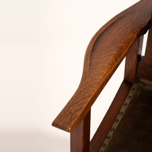 Reclining oak chair-251