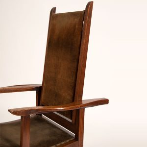 Reclining oak chair-249