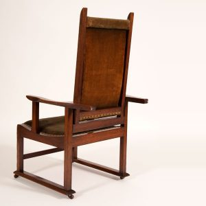 Reclining oak chair-250