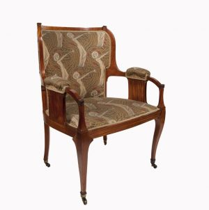 An abeille wood armchair by A.H.Mackmurdo-0