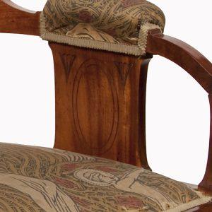 An abeille wood armchair by A.H.Mackmurdo-65