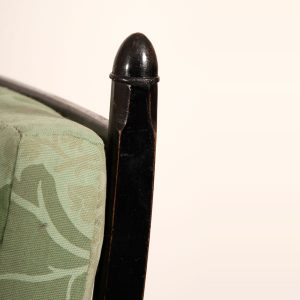 Ebonised reclining chair-252