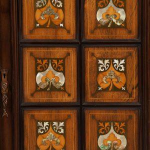 Inlaid mahogany cabinet-234