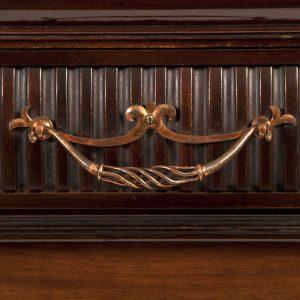 Inlaid mahogany cabinet-231