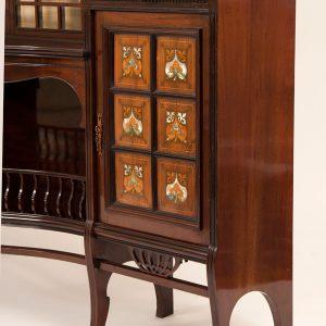 Inlaid mahogany cabinet-230
