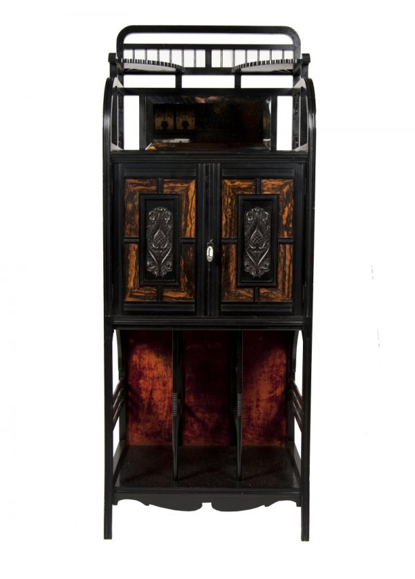 An Aesthetic Movement music cabinet-0
