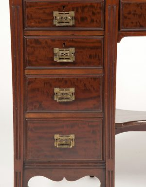 Anglo Japanese mahogany desk attributed to H.W. Batley-291