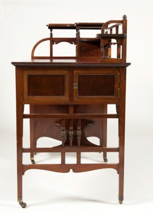Anglo Japanese mahogany desk attributed to H.W. Batley-287
