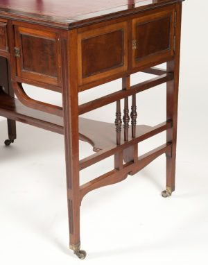 Anglo Japanese mahogany desk attributed to H.W. Batley-289