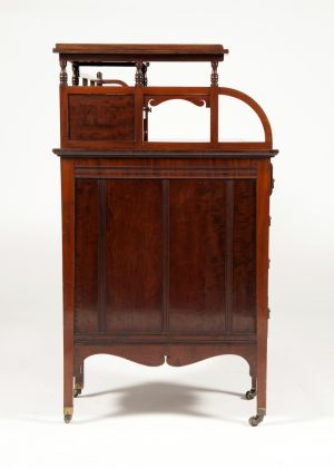 Anglo Japanese mahogany desk attributed to H.W. Batley-286