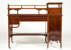 Anglo Japanese mahogany desk attributed to H.W. Batley-290