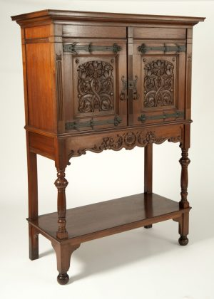 Dutch Arts & Crafts cabinet. Probably Amsterdam School-300