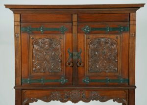Dutch Arts & Crafts cabinet. Probably Amsterdam School-298
