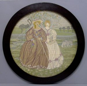 "Ann Macbeth an embroidery ""The Shepherdess"".-0"
