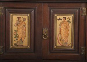 A mahogany corner cabinet -411