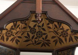 A mahogany corner cabinet -412