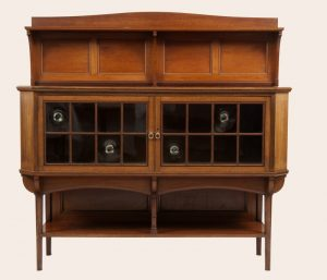 A walnut cabinet-0