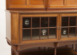 A walnut cabinet-420