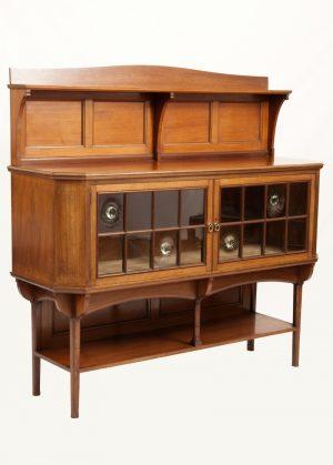 A walnut cabinet-419