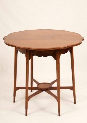 A Morris & Co. walnut occasional table-0