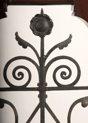 A pair of Gothic Revival doors with wrought iron work-385