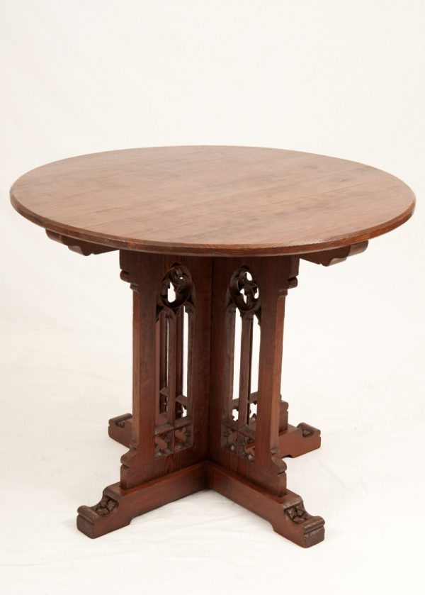 A Gothic Revival pine table-0