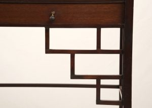 A mahogany etagere attributed to E.W.Godwin-395