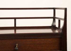 A mahogany etagere attributed to E.W.Godwin-396