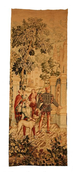 A pair of French ' Faux ' tapestries -0
