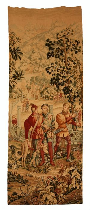 A pair of French ' Faux ' tapestries -461