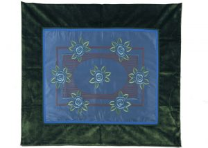A Glasgow School embroidered silk panel-0