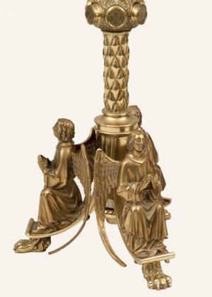 A rare pair of brass candlesticks -477