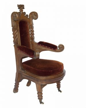 Two Gothic Revival armchairs -498