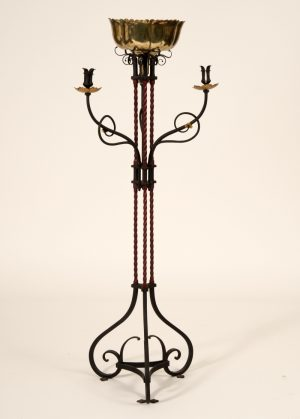A floor standing candelabra and flower display stand-0