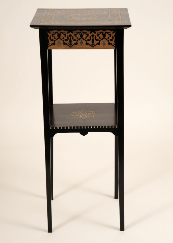 An inlaid plant or lamp stand-0