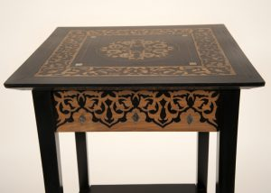 An inlaid plant or lamp stand-516