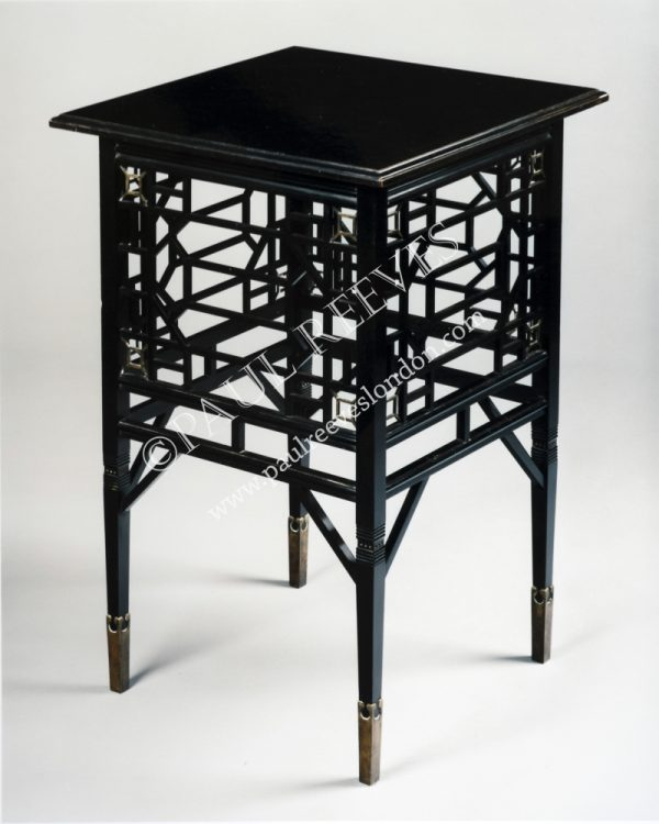 An ebonised occasional table-0