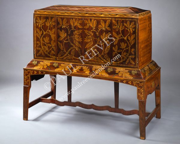 An inlaid secretaire -0