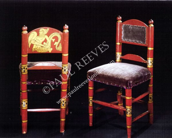 A pair of side chairs by William Burges-0