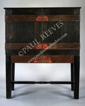 An oak secretaire by C.R.Ashbee-0