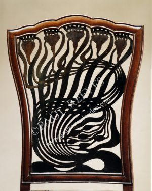 A mahogany side chair by A. H.Mackmurdo-0