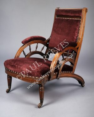 A walnut armchair by E.W.Godwin-0