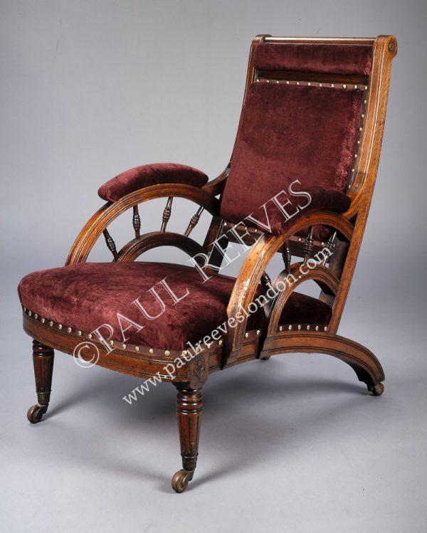 A walnut armchair by E.W.Godwin-0