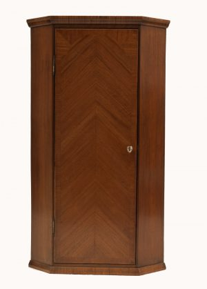 A walnut corner cabinet-0